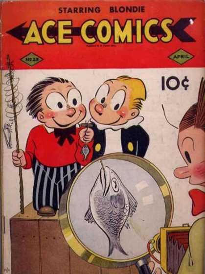 Ace Comics 25 - Blondie Boopadoop - David Mckay Publications - Dagwood Bumstead - Suburbia - Fishing