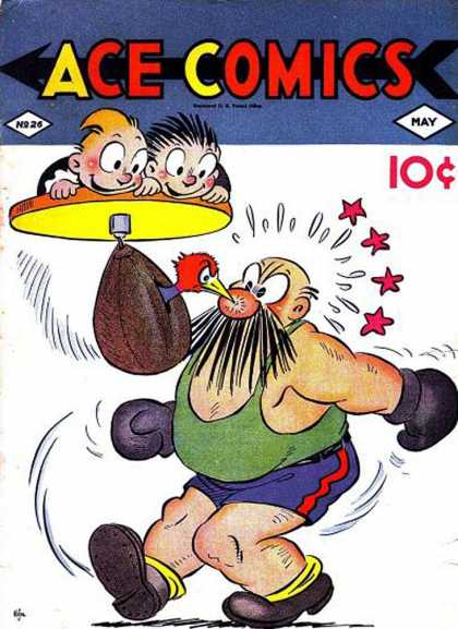 Ace Comics 26 - Boxer - Punching Bag - Bird - Peck - Kids