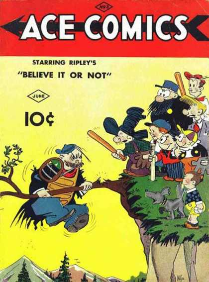 Ace Comics 3 - Bully - Branch - Cliff - Baseball Bats - Dog