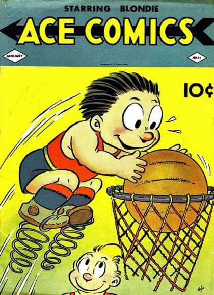 Ace Comics 34 - Springs - Basketball - Large Eyes - Net - Sweat