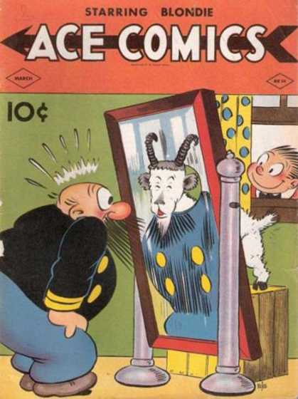 Ace Comics 36 - A False Transformation - Goat Trick - Mirror Shock - Thats Not Me - Old Man On Edge