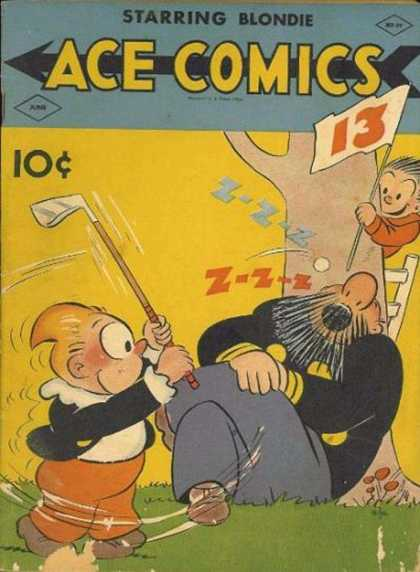 Ace Comics 39 - I Like Golf - The Lucky 13 - A Sleeping Hole - The Two Friends - The Funny Golf Players