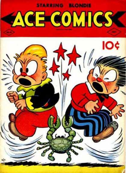Ace Comics 40 - Crabs - Butts - Stars - Boys - Red Coat