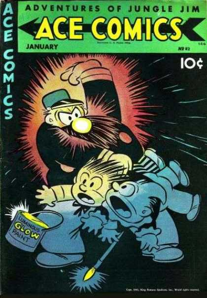 Ace Comics 82 - Glow In The Dark Nose - Little Artists - Someones In Trouble - Paint Can - Brush