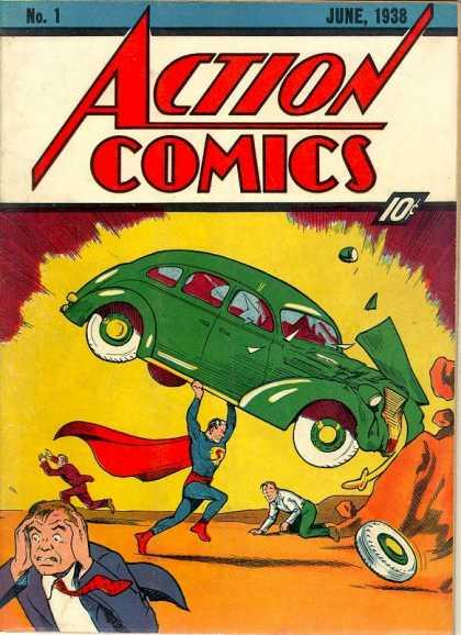 debuted in comics in 1938