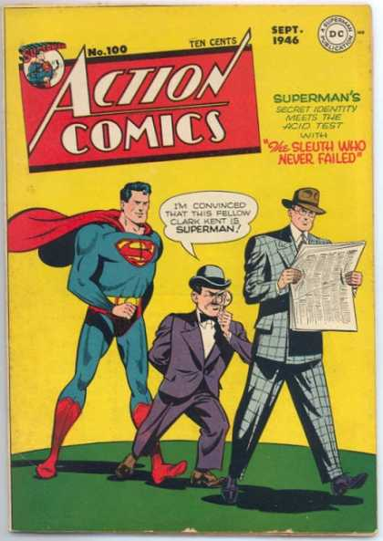 Action Comics 100 - Superman - Clark Kent - Newspaper - Sleuth - Identity