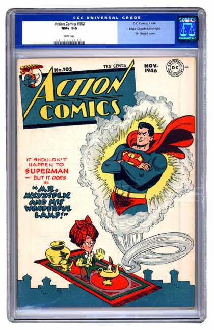 Action Comics 102 - Superman - Turban - Lamp - Genie - Flying Carpet