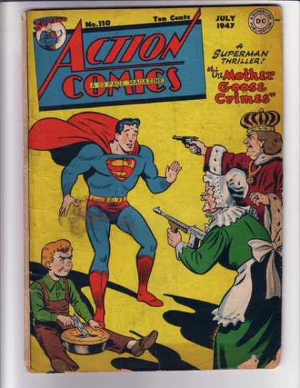 Action Comics 110 - Superman - Gun - King - Pie - Machinegun