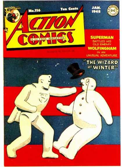 Action Comics 116 - Superman - Wolfingham - Wizard Of Winter - 1948 - Dc