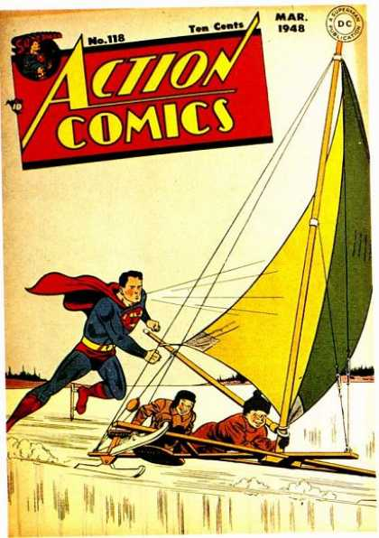 Action Comics 118 - Superman - Ice - Sailing - Kids - Sail