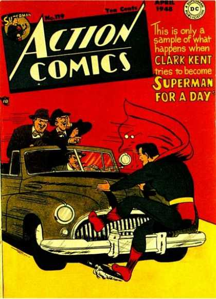 Action Comics 119 - Car - Superman - Dc - Cap - Gun