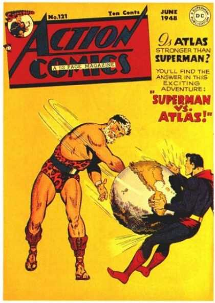 Action Comics 121 - Atlas - Superman - Legend - Fight - Hero