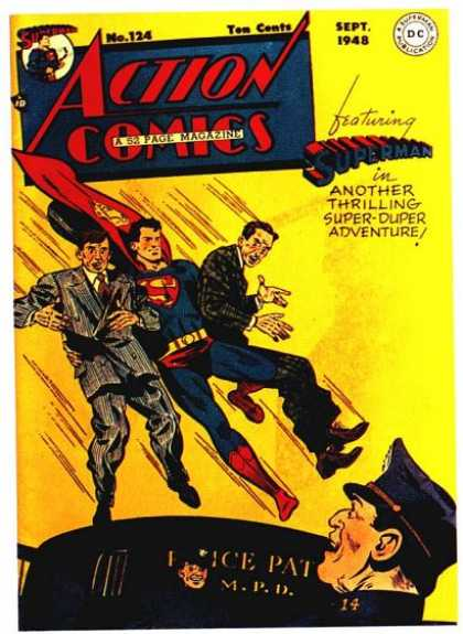 Action Comics 124 - Police - Superman - 1948 - Criminals - September - George Roussos