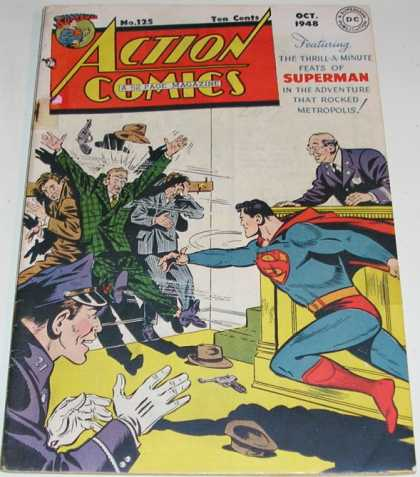 Action Comics 125 - Superman - Gun - Police - Criminals - Fight