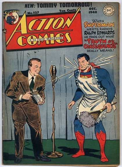 Action Comics 127 - Truth Or Consequences - Superman - Apron - Microphone - Nbc