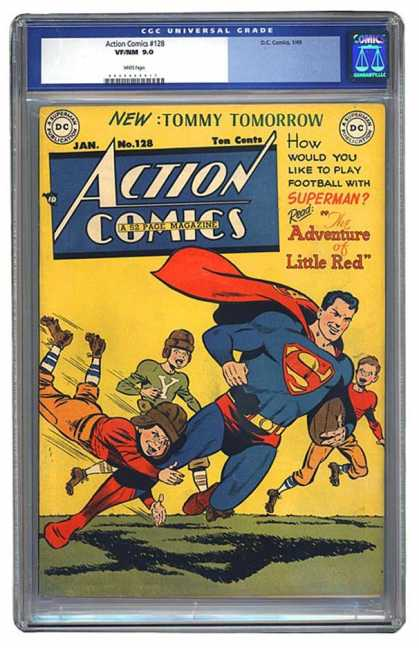 Action Comics 128 - Superman - Tommy Tomorrow - Adventure Of Little Red - Boys - Dc