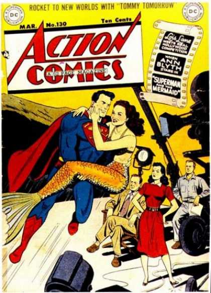 Action Comics 130 - Superman - Lois Lane - Camera - Mermaid - Film Set