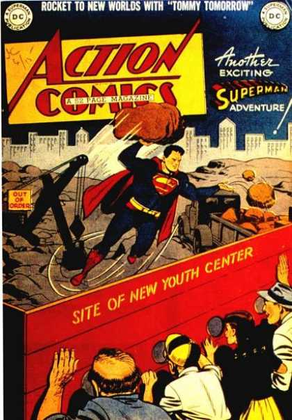 Action Comics 135 - Superman - Youth Center - Rock - Construction - Dc Comics