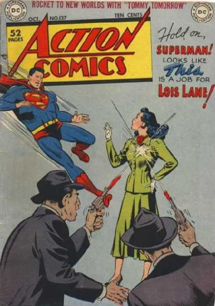 Action Comics 137 - Lois Lane - Superman - Gun