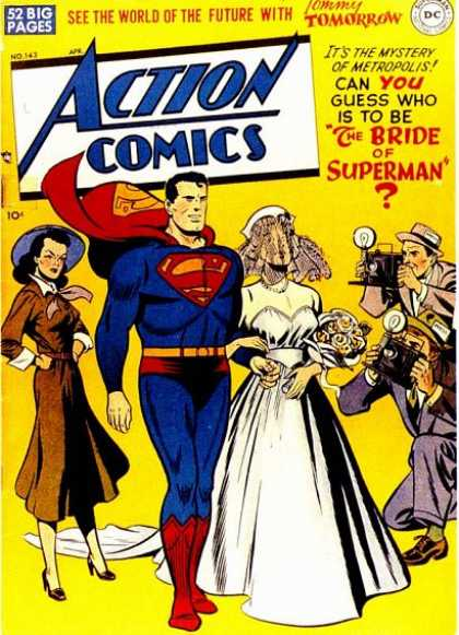 Action Comics 143 - Superman - Bride - Wedding - Lois Lane - See The World Of The Future