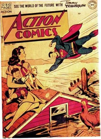 Action Comics 144 - Superman - Dog - Flood