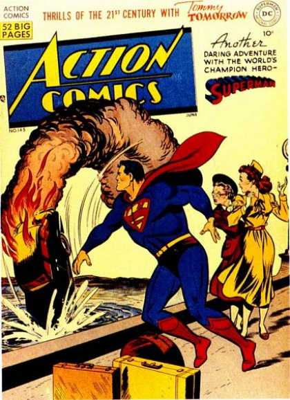 Action Comics 145 - Smoke - Superman - Car - Red - Blue