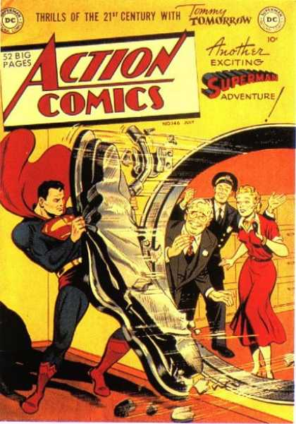 Action Comics 146 - Superman - Vault - People - Red Dress - Bank