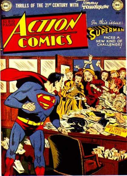 Action Comics 147 - Tommy Tomorrow - Superman - Thrills - Challenge - Editor