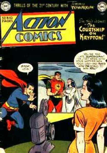Action Comics 149 - Superman - Lois Lane - Krypton - Jor-el - Projector