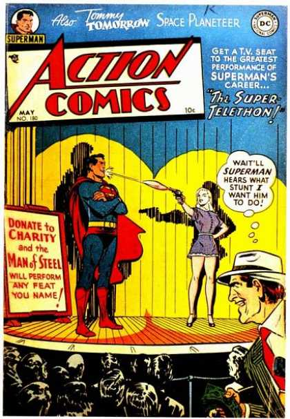 Action Comics 180 - Superman - Gun - Stunt - Stage