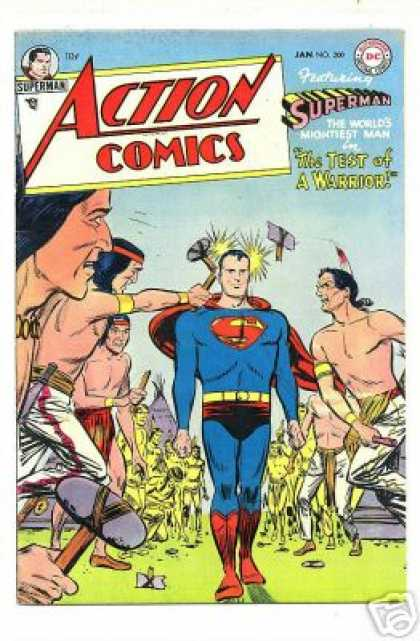 Action Comics 200 - Tomahawk - Superman - One Super Man - Tribles - Jan