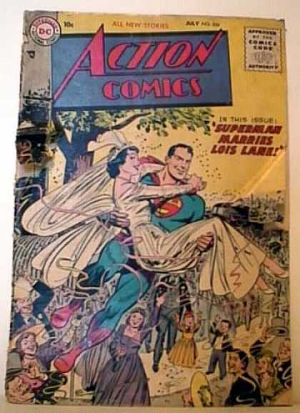 Action Comics 206 - Lois Lane - Superman - Wedding - Marriage - Bride