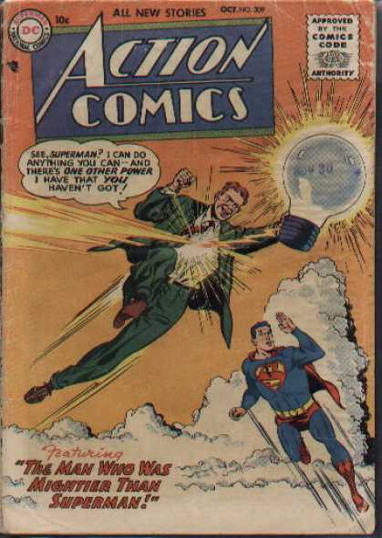 Action Comics 209 - Superman - Lightbulb - Light Bulb - Man