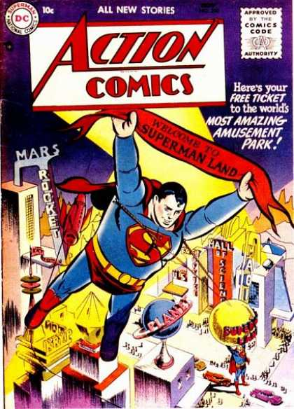 Action Comics 210 - Superman - Balloon - Dc - Superhero - Theme Park
