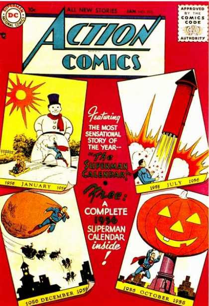 Action Comics 212 - Rocket - Snowman - Sack - Calender Actions - Season Triumphs