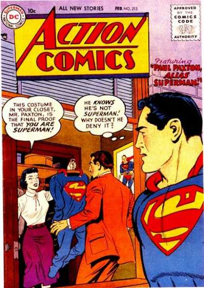 Action Comics 213 - Superman - Paul Paxton - Lois Lane - Lois - All New Stories
