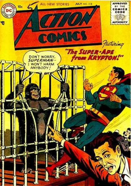 Action Comics 218 - Superman - Ape - Bars