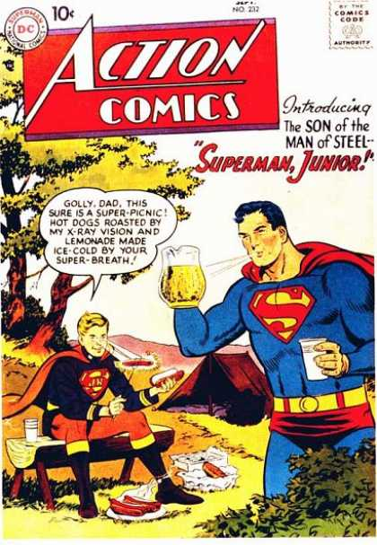 Action Comics 232 - Superman - Lemonade - Hot Dogs - Superman Junior - Hero - Curt Swan