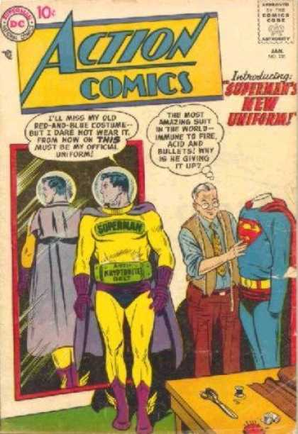 Action Comics 236 - Superman - New Uniform - Tailor - Mirror - Curt Swan