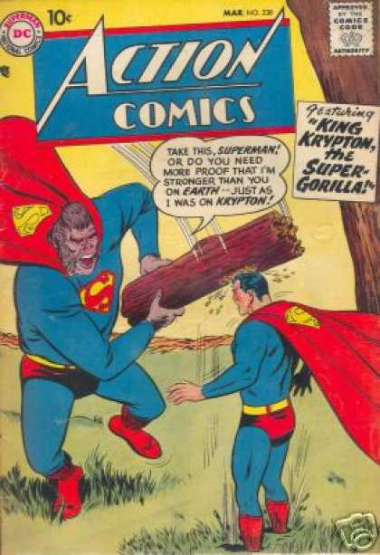 Action Comics 238 - Superman - Dc - Approved By The Comics Code Authority - Wood - Mar - Curt Swan