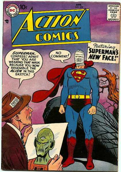Action Comics 239 - Alien - Superman - Reporter - Purple - New Face - Curt Swan