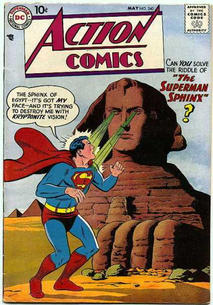 Action Comics 240 - Sphinx - Superman - Kryptonite - Egypt - Man Of Steel - Curt Swan