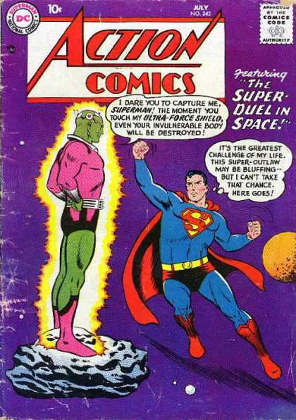 Action Comics 242 - Superman - Dc - National Comics - Approved By The Comics Code Authority - Ultra Force - Curt Swan