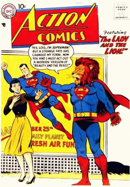 Action Comics 243 - Lion - Lois Lane - Superman - Poster - The Lady And The Lion - Curt Swan
