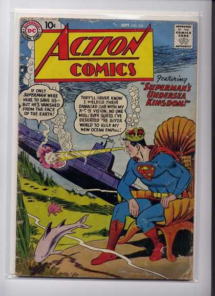 Action Comics 244 - Superman - Fish - Curt Swan