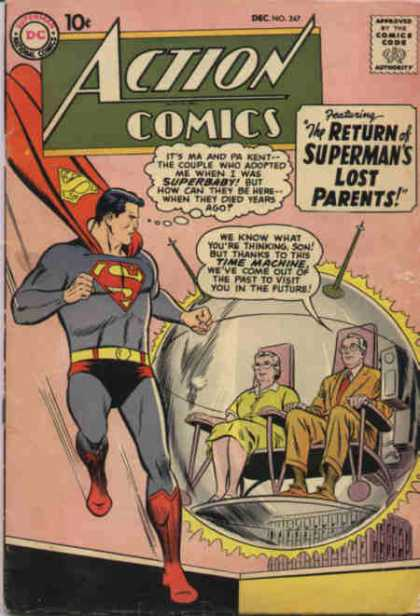 Action Comics 247 - Superman - Parents - Time Machine - Orb - Bubble - Curt Swan