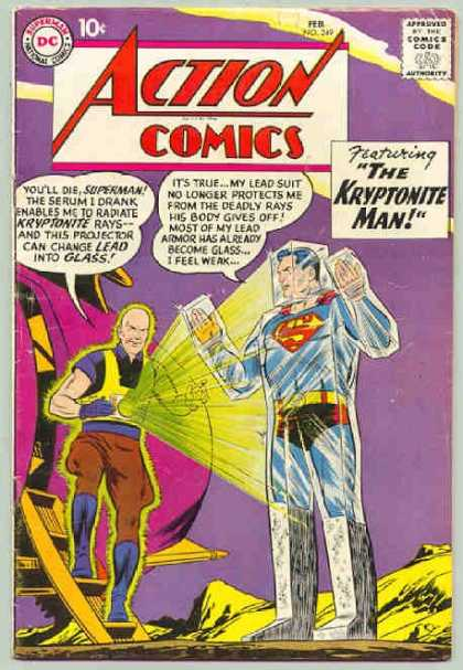 Action Comics 249 - Kryptonite - Lex Luthor - Glass - Curt Swan