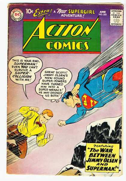 Action Comics 253 - Superman - Jimmy Olsen - Mountain - Flying - Supergirl - Curt Swan