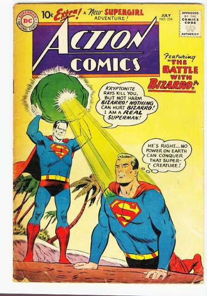 Action Comics 254 - Kryptonite - Bizarro - Superman - Supergirl - Battle With Bizarro - Curt Swan