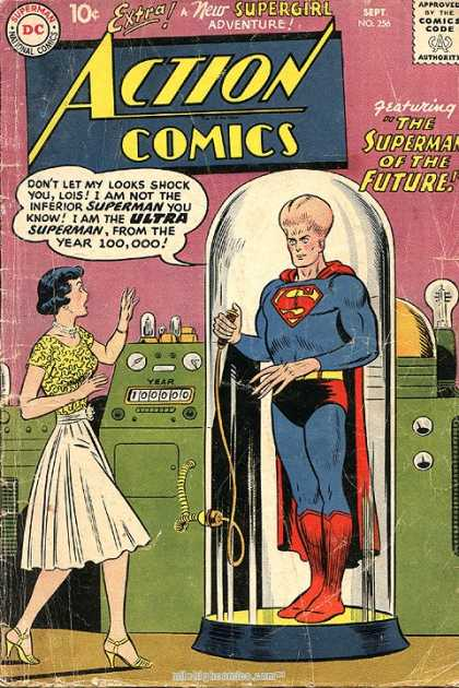 Action Comics 256 - Superman - Supergirl - Woman - Strange Machine - Big Head - Curt Swan
